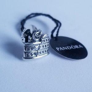 Pandora Colosseum Rome Italy Icon Silver Dangle